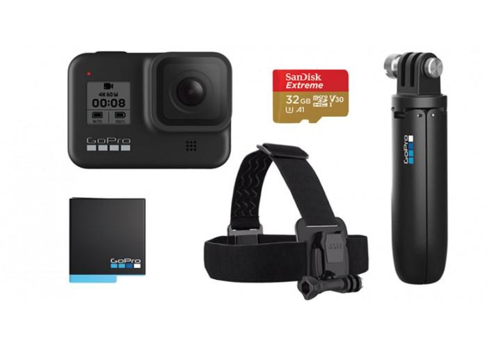 Камера GoPro HERO 8 Black с SD-картою и комплектом аксессуаров, Holiday Bundle