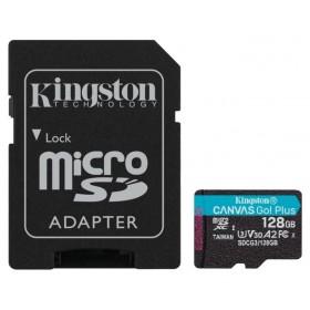 Карта памяти KINGSTON microSDXC 128Gb Canvas Go + U3 V30 (R170 / W90)