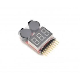 1-8s бортовой сигнализатор lipo аккумулятора